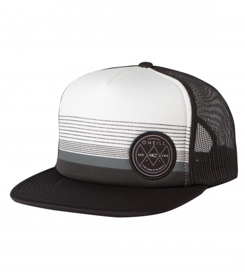 Surf O'Neill Crossed Snapback Hat.  Foam front trucker with contrast visor; front panel screen print and hdmd woven label at wearer's left side; rear woven label. - $22.00