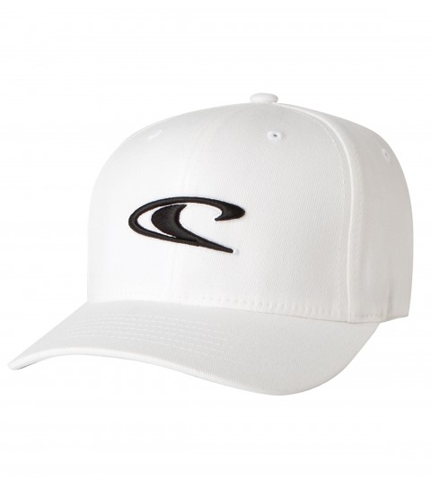 Surf O'Neill Clean & Mean Hat.  Cotton twill X-fit flex fit hat with satin stitch/puff embroidery front logo.  Rear direct embroidery. - $17.99