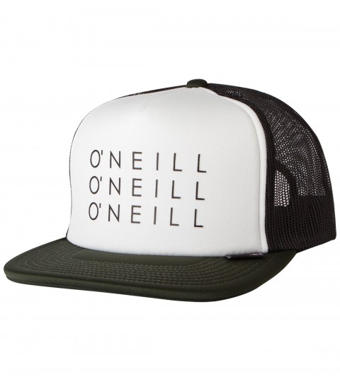 Surf O'Neill Next Snapback Hat.  Foam front trucker with hi-density screen print; top of visor woven label; rear woven label. - $12.99