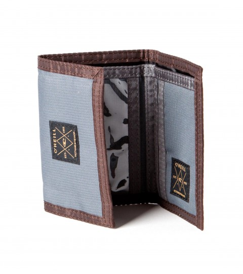 Entertainment O'Neill Tuned Up Wallet.  Canvas trifold wallet with contrast binding; exterior and interior woven label details. - $9.99