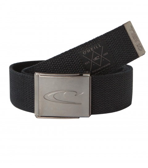 Surf O'Neill Tuned Up Belt.  Cotton web belt with metal branded buckle & tip; woven label at end of strap. - $10.99