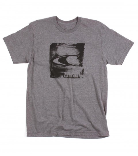 Surf O'Neill Wheat Paste Tee.  50% Cotton / 50% Poly.  30 singles modern fit heather tee with softhand screeenprint. - $13.99
