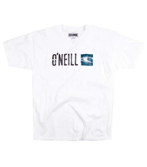Surf O'Neill Marked Tee.  100% Cotton; 20 singles classic fit tee with softhand screenprint. - $20.00