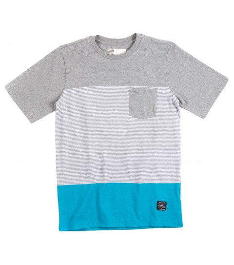 Surf O'Neill Boys Deadbolt Shirt.  100% Cotton jersey.  Yarn dye stripe crew with garment wash. Standard fit with chest pocket and logo labels. - $29.50