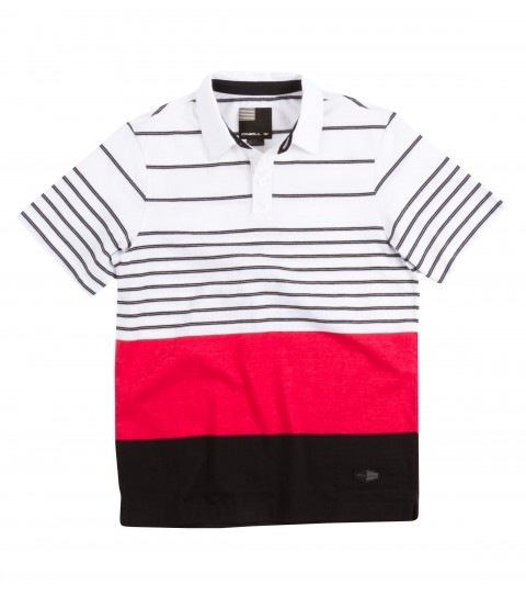 Surf O'Neill Visionary Polo Shirt. 100% Cotton jersey. Yarn dye stripe polo with garment wash. Standard fit with logo labels. - $34.50