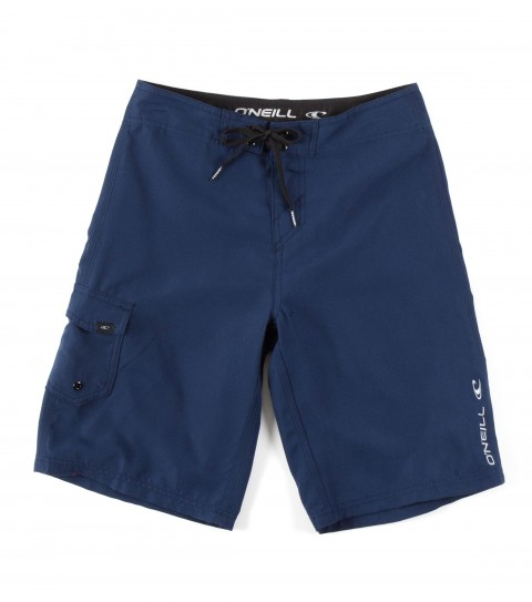 Surf O'Neill Boys Santa Cruz Solid Boardshorts.  Ultrasuede; boardshort features comfort fly closure; side cargo pocket; embroidered and screened logos. - $29.50