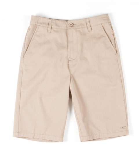Surf O'Neill Boys Contact Shorts.  65% Polyester / 35% Cotton.  Solid twill walkshort with silicone softener wash. Standard chino fit; logo embroideries. - $21.99