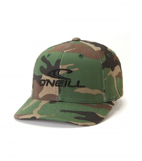 Surf O'Neill Boys Staple Hat.  X fit flexfit cap with various novelty fabrics, front puff embroidery, rear direct satin stitch embroidery. - $14.99