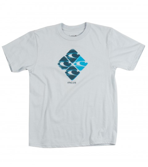 Surf O'Neill Boys Quad Tee.  50% Cotton / 50% Poly.  30 singles modern fit heather tee with softhand screeenprint. - $20.00