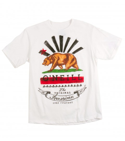 Surf O'Neill Boys Grizzly Tee.  100% Cotton.  20 singles classic fit tee with softhand screenprint. - $18.00