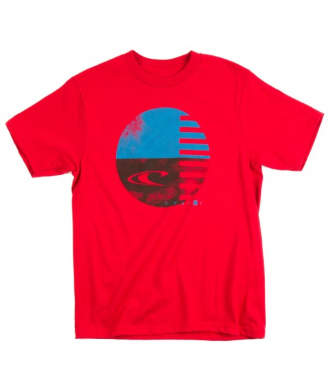 Surf O'Neill Boys Held Down Tee.  100% Cotton. 20 singles classic fit tee with softhand screenprint. - $18.00
