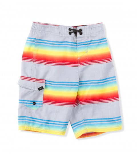 Surf O'Neill Kids Santa Cruz Stripe Boardshorts.  Ultrasuede; boardshort features comfort fly closure; side cargo pocket; embroidered and screened logos.. - $16.99
