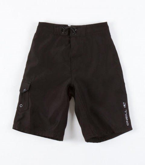 Surf O'Neill Kids Santa Cruz Solid Boardshorts.  Ultrasuede; boardshort features comfort fly closure; side cargo pocket; embroidered and screened logos. - $20.99