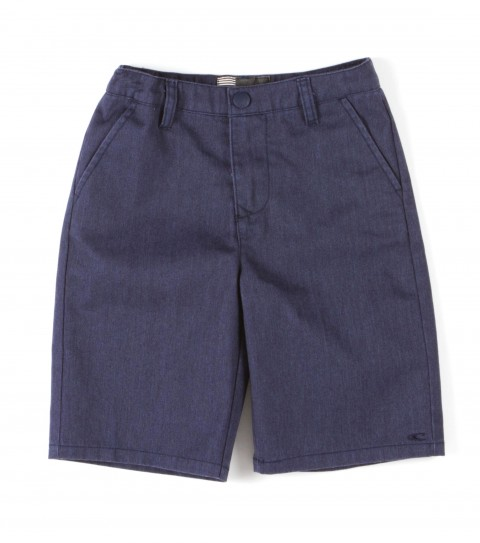 Surf O'Neill Kids Contact Shorts.  65% Polyester / 35% Cotton.  Solid twill walkshort with silicone softener wash. Standard chino fit; logo embroideries. - $32.00