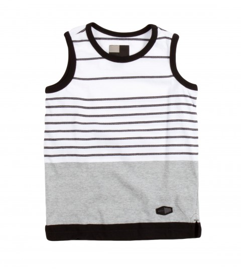 Surf O'Neill Kids Visionary Tank.  100% Cotton jersey.  Engineered yarn dye stripe tank with garment wash. Standard fit with logo labels. - $26.00