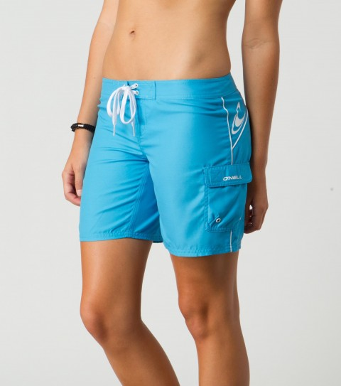 "Surf The O'Neill Atlantic Boardshorts are the perfect classic boardie for all of your beach and water festivities. They are 100% polyester dynasuede with a 7"" inseam. - $34.00"