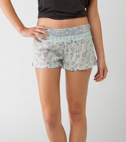 "Surf O'Neill Nemo Shorts.  100% Cotton gauze printed.  2"" inseam; fully smocked waistband; side slits; logo embroidery. - $39.50"