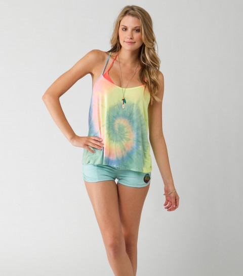 Surf O'Neill SIde Step Tank.  65% Polyester / 35% Rayon.  Hand tie-dyed; metal logo badge. - $20.99