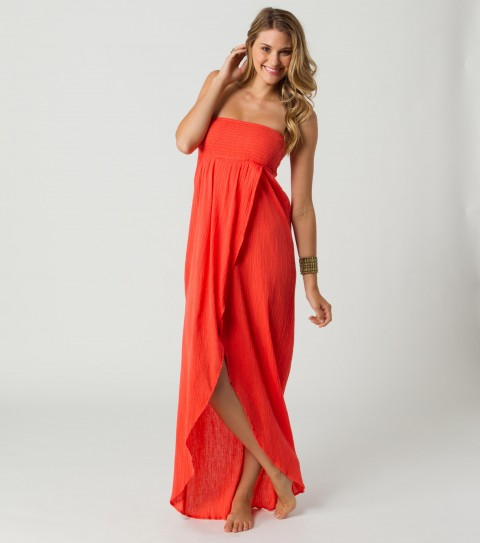 Surf O'Neill Dixie Coverup Dress.  100% cotton crinkle gauze.  Cover-up dress with smocked bust. - $24.99