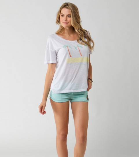 Surf O'Neill Flip Flop Tee.  50% Cotton / 50% Polyester.  Burnout washed vacation tee. - $17.99
