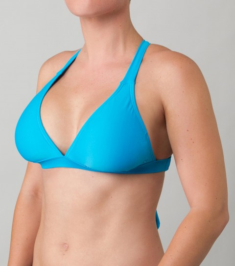Surf O'Neill Solid D-Cup Bikini Top.  Solid crossback D-cup top with removable bra cups and colored lining. - $14.99
