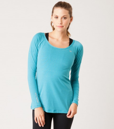 Fitness O'Neill 365 Trinity Longsleeve Layer Top. Dri-release dries 4x faster than cotton and keeps you dry. Quickdry material has a dry rate greater than or equal to 50% dry within 30 minutes. Odor resistant treated fabric resists bacterial odors. Wicking technology pulls moisture from your skin; keeping you more comfortable and dry. Reflective logos. Thumbholes to keep sleeves in place.  Perfect for walking or running just in case you need that light extra layer! - $24.99