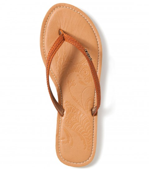Entertainment O'Neill Ojai Valley Sandals.  Faux leather upper with self braid detail; metallic lining; faux leather sock with embossed art; memory foam padding with stitching; EVA midsole; and molded TPR outsole; logo metal badge. - $13.99
