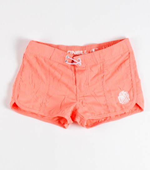 "Surf O'Neill Girls Evey Boardshorts.  100% Poly crinkled dynasuede.  2"" inseam boardshort with elastic waist; superfly and rope drawcord detail. - $21.99"