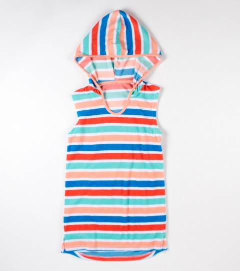 Surf O'Neill girls Sally is a 100% cotton yarn dye terry cloth hooded cover-up. - $24.99