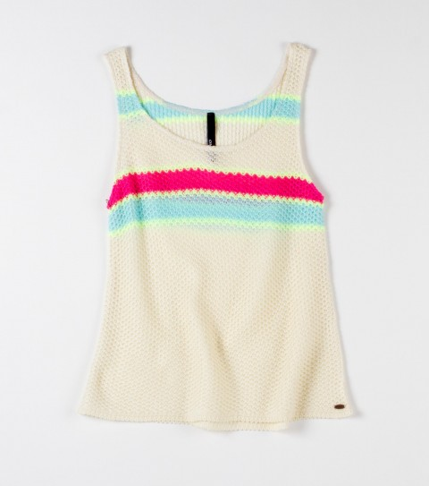 "Surf O'Neill Girls Ty Ty Top.  100% Acrylic ""specialty knit"" yarn dye; tank styling; metal logo badge. - $36.00"