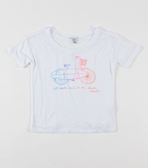 Surf O'Neill Girls Crusin Tee.  100% Cotton.  Screenprint. - $26.00