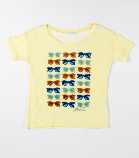 Surf O'Neill girls Shades is a 50% cotton and 50% polyester burnout washed tee. - $16.99