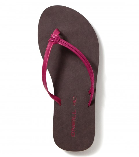 Entertainment O'Neill Girls Little Duet Sandals.  Faux leather flip flop with knotted strap detail; eva midsole andstamped rubber outsole.. - $12.99