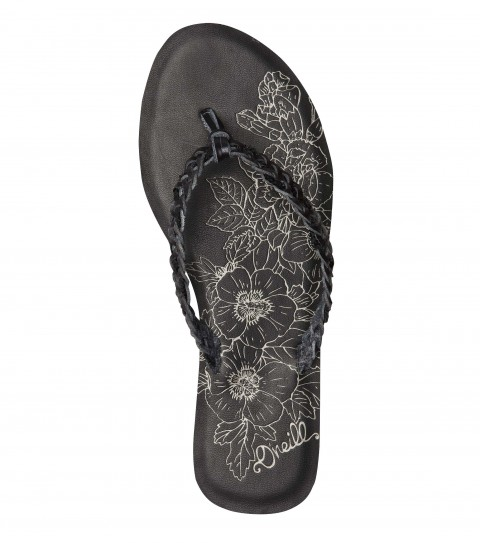 Entertainment The O'Neill Promise Sandals have braided faix leather flip flop with metallic sequin detail; faux leather topsole; and custom sandal bottom outsole. - $29.50