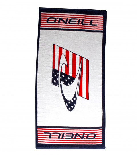 Surf O'Neill 100% cotton terry towel with all over screen printed logos and edge binding. - $34.50