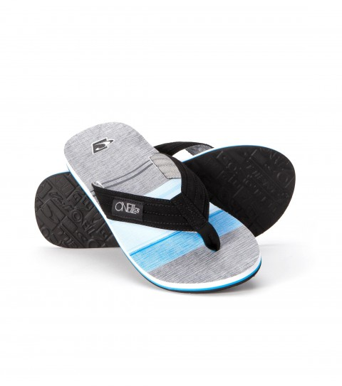 Entertainment O'Neill sandals with pu nubuck upper; woven logo label on strap; anatomically constructed arch support; printed footbed; and rubber outsole. - $14.99