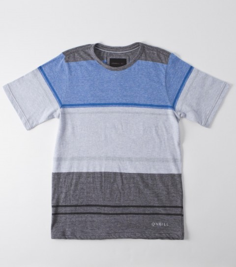 Surf O'Neill Boys Pistola Crew Shirt.  100% Cotton.  Yarn dye engineered stripe jersey crew; enzyme / silicone wash; standard fit; logo embroideries. - $21.99