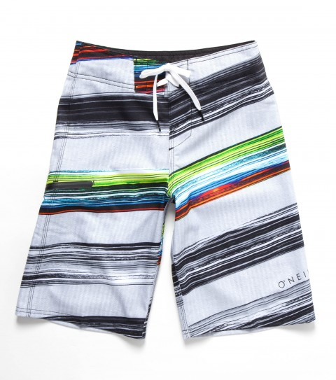 Surf O'Neill Boys Epic Freak SE Boardshorts.  New techstretch.  Allover printed boardshort with superfly 2.0 closure; stretch side panels; locking drawcord; welt zip pocket; embroidered and screened logos. - $35.99
