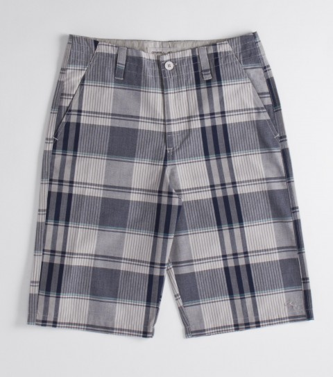 Surf O'Neill Boys Pierce Shorts.  65% Cotton / 35% Polyester.  Yarn dye plaid; heavy enzyme / silicone softener wash; standard fit; contrast interior fabrics; decorative back pockets; interior waistband drawcord; logo embroideries and labels. - $30.99