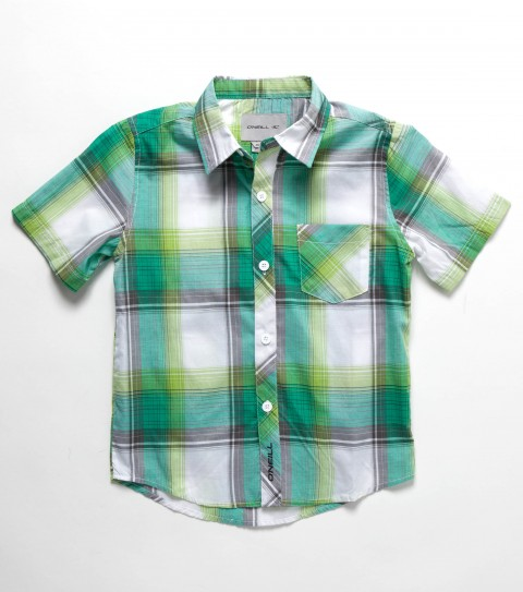 Surf O'Neill Kids Ellisworth Shirt.  55% Cotton / 45% Polyester. Yarn dye plaid; mill finish; bio wash; standard fit; logo embroideries and labels. - $26.99