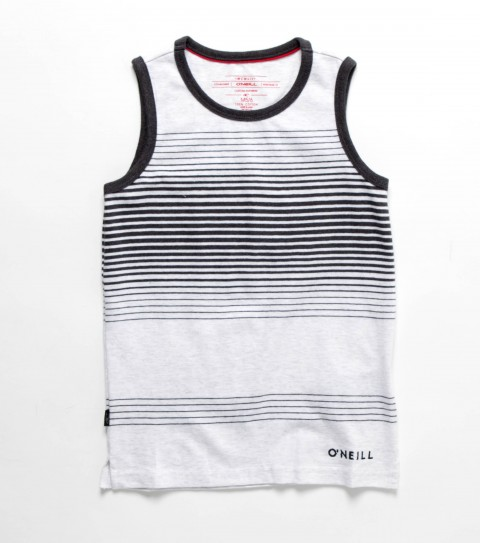 Surf O'Neill Kids Mendoza Tank.  100% Cotton.  Yarn dye engineered stripe jersey tank; enzyme / silicone wash; standard fit; logo embroideries. - $26.00
