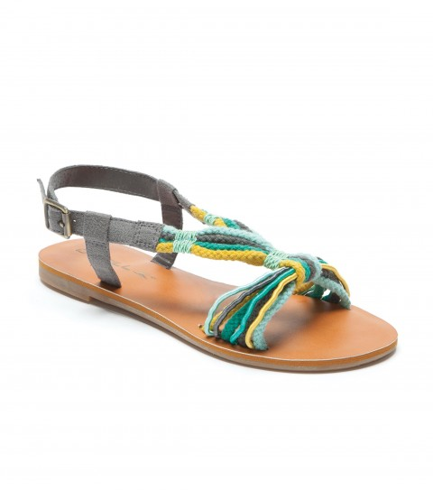 Entertainment The O'Neill Serendipity sandals have cotton cording and faux suede upper with buckle closure; faux leather sock; and sandalbottom outsole. - $29.99