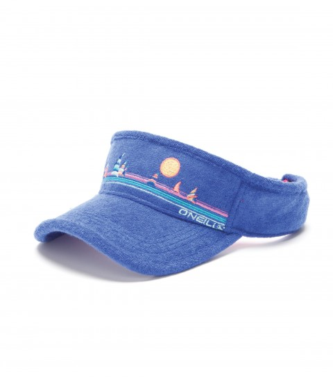 Surf The O'Neill Terry cloth visor has embroidered art. - $15.99