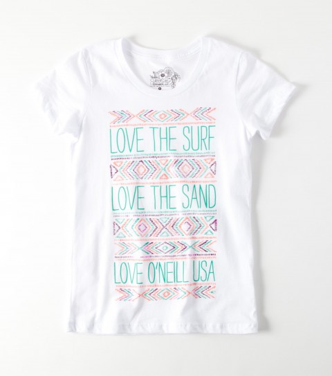 Surf The O'Neill Girls Pendleton Tee is mad of 100% cotton jersey; girls best tee with foil. - $12.99