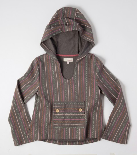 Surf The O'Neill girls Flannery hoodie is made of 100% cotton French terry; all over print; pull over styling; lace at inner back neck; bell sleeves; and wood buttons on pocket. - $24.99