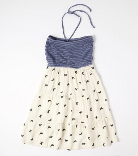 Surf The O'Neill little girls Piera dress is made of 95% rayon and 5% elastane y/d jersey with 100% viscose woven skirt; smocked top with removable halter tie; and tiered viscose full skirt. - $24.99