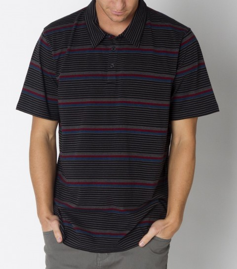 Surf O'Neill York Polo is made from 100% cotton 180gsm jersey heather stripe polo with heavy enzyme/silicone softener wash. Standard fit; with logo embroideries and labels. - $23.99