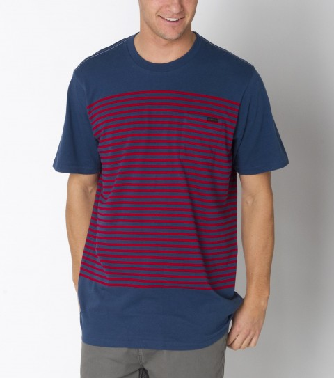 Surf O'Neill Translate Crew is made of 100% cotton; stripe knit crew with heavy enzyme/silicone softener wash. Standard fit; with logo embroideries and labels. - $27.99