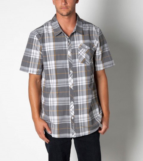 Surf O'neill Levine Shirt is made from 55%cotton/45%polyester plaid.  It is a short sleeve shirt with mill finish and bio wash. Standard fit; with logo embroideries and labels. - $32.99