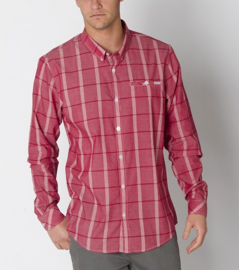 Surf O'Neill Lafayette Shirt is made from 100% cotton plaid; long sleeve with mill finish and bio wash. Modern fit; button-down collar; decorative chest pocket; with logo embroideries and labels. - $32.99